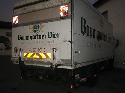 Steyr 17S23, Getränkekofferaufbau (Alu) 6m mit Ladebordwand - seitlich auf- und abklappbar - LKW Verwertung Heba in Mistelbach bei Wels