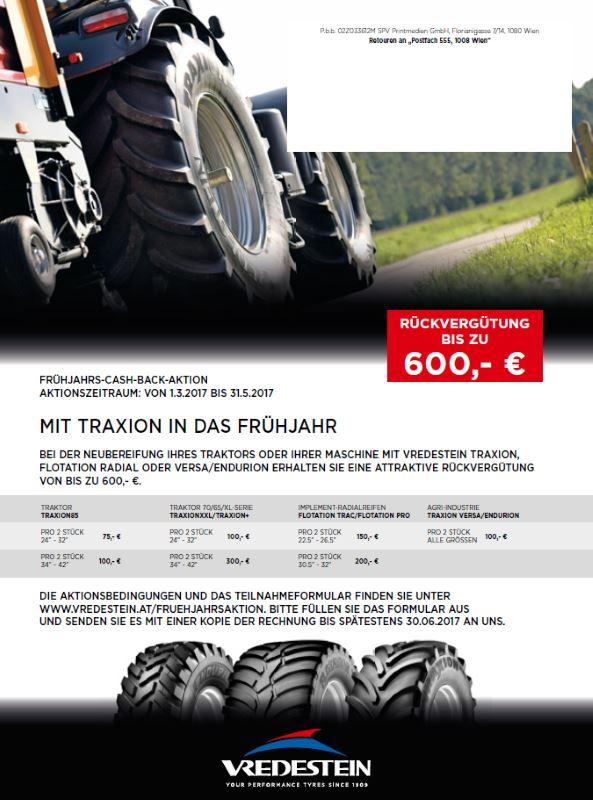 Vredestein Frühjahrs Cashback Aktion bei HEBA-Reifen in Mistelbach bei Wels