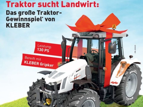 Kleber Reifen Traktor Gewinnspiel bei HEBA-Reifen in Mistelbach bei Wels