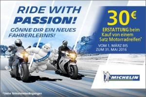 Michelin Ride with Passio Aktion bei HEBA-Reifen in Mistelbach bei Wels