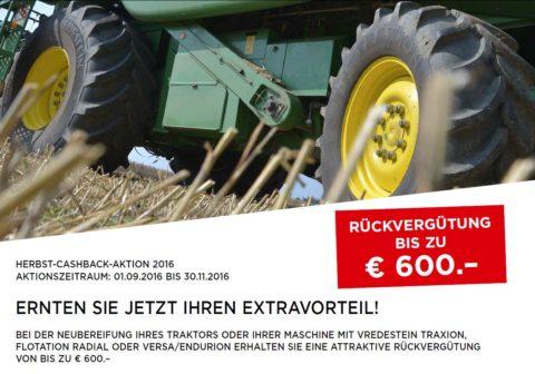 VREDESTEIN HERBST-CASHBACK-Aktion bei HEBA - Reifen in Mistelbach bei Wels