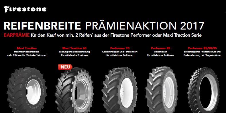 Firestone Reifenbreite Prämienaktion 2017 bei HEBA-Reifen in Mistelbach bei Wels