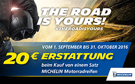 Michelin THE ROAD IS YOURS Aktion bei HEBA-Reifen in Mistelbach bei Wels