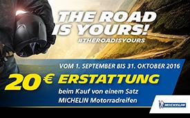 Michelin THE ROAD IS YOURS Aktion bei HEBA-Reifen in Mistelbach bei Wels