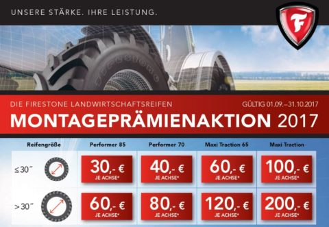 Firestone Montageprämien Aktion bei HEBA-Reifen in Mistelbach bei Wels