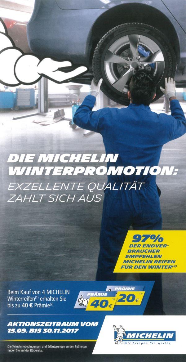 Michelin Winterpromotion 2017 bei HEBA-Reifen in Mistelbach bei Wels