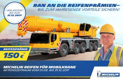 Michelin Mobilkran Reifen Aktion bei HEBA-Reifen in Mistelbach bei Wels