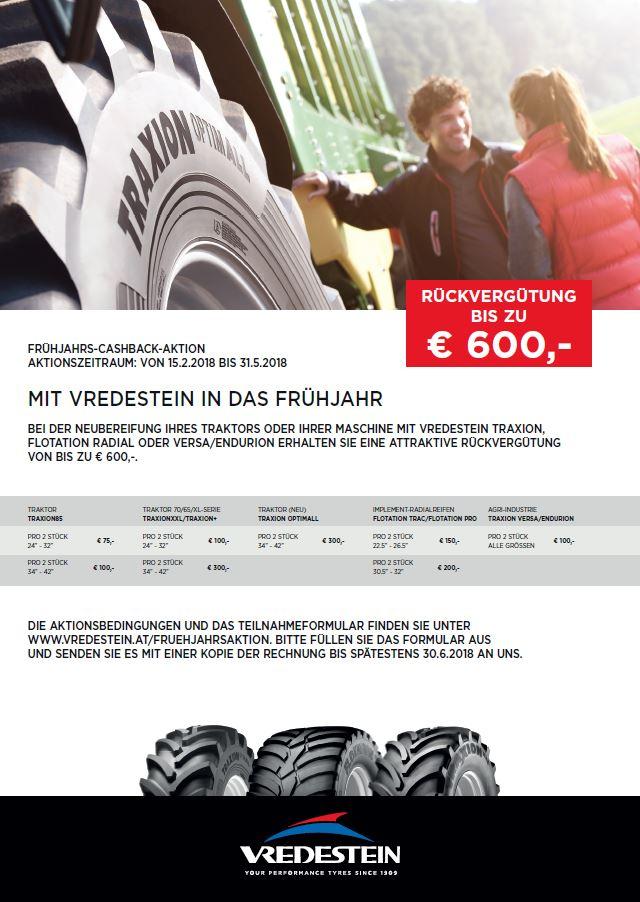 Vredestein Frühjahrs-Cashback-Aktion 2018