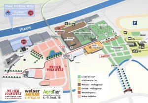 Geländeplan AgroTier 2018 in Wels