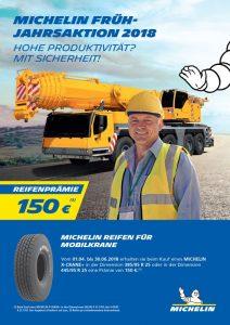 Michelin Mobilkranaktion bei HEBA-Reifen in Mistelbach bei Wels