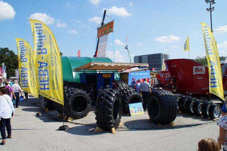 HEBA-Reifen auf der AgroTier 2018 in Wels