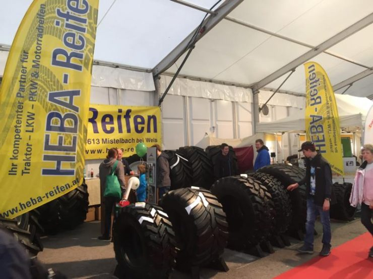 HEBA-Reifen auf der Austro Agrar Tulln 2018