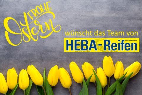 Frohe Ostern wünscht HEBA-Reifen in Mistelbach bei Wels