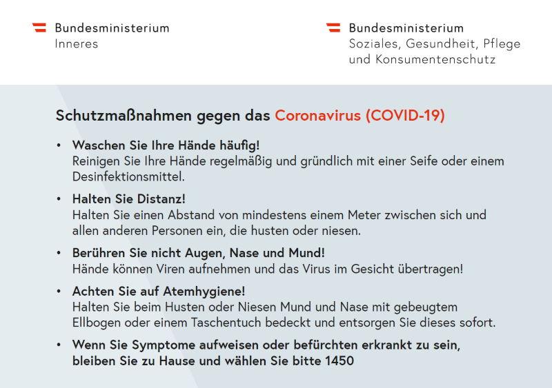 Coronavirus Pandemie Schutzmaßnahmen bei HEBA-Reifen in Mistelbach bei Wels