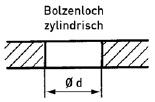 Bolzenloch zylindrisch